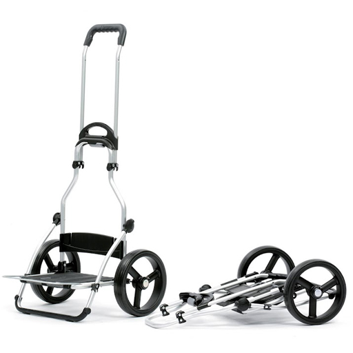 chariot de courses noir 44l grandes roues multifonctions. Black Bedroom Furniture Sets. Home Design Ideas