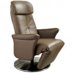 Fauteuil Relaxation Manuel Luxe 100% Cuir Italien rotation 360°