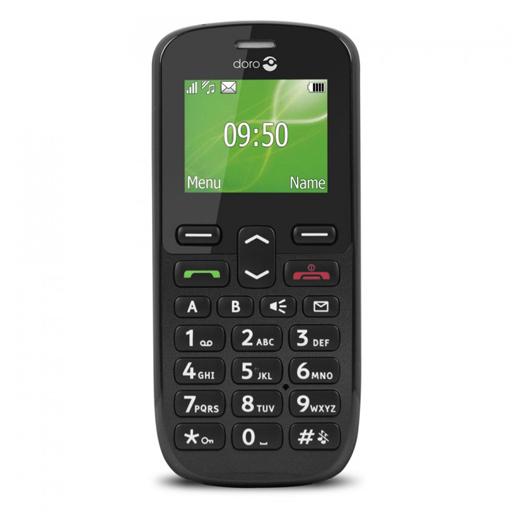 Téléphone Portable Doro Simplifié Noir