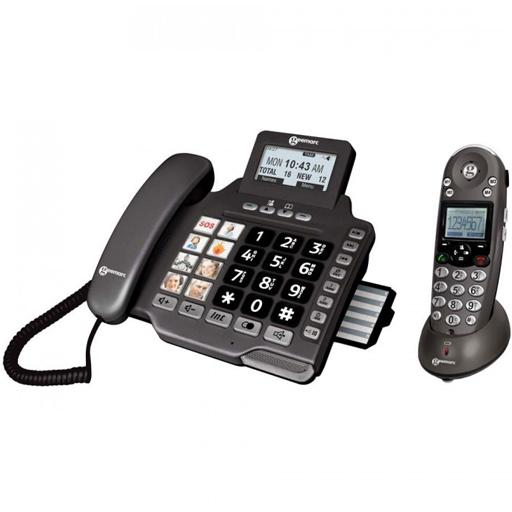 Duo téléphones fixes répondeur avec et sans fil 8 photos Geemarc