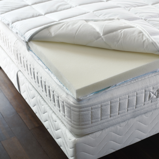 surmatelas bdreams m moire de forme blanc confort ferme. Black Bedroom Furniture Sets. Home Design Ideas
