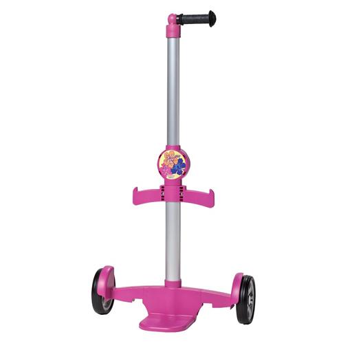 Chariot à roulettes rose pour cartable enfant