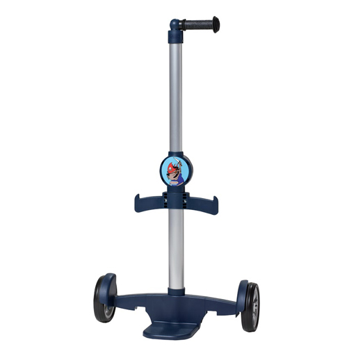 Chariot à roulettes bleu pour cartable enfant
