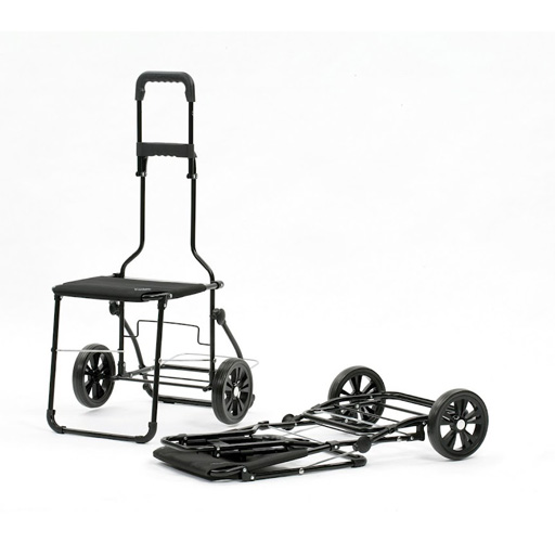 Chariot de courses 49 litres isotherme si ge pliant bleu - Chariot de course isotherme ...