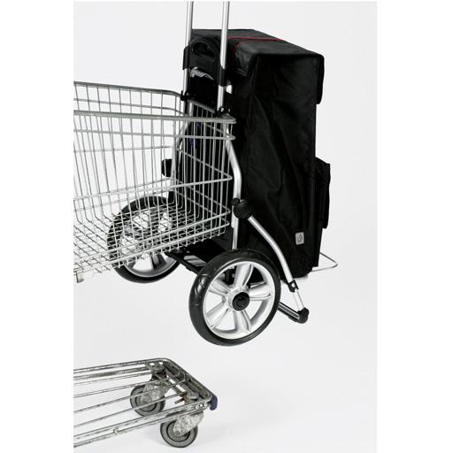 de courses noir 56l isotherme 6 roues escaliers