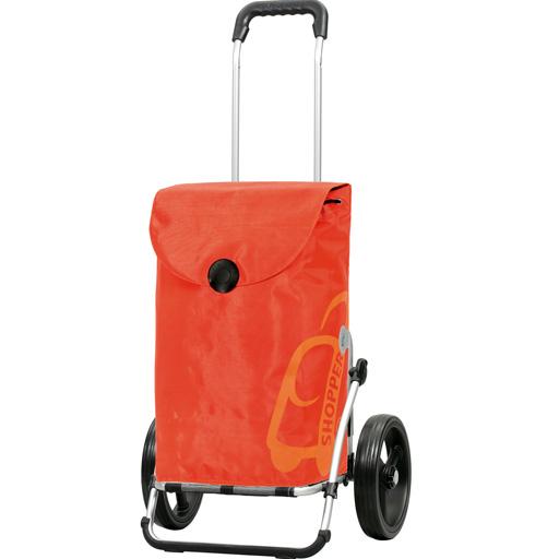 Chariot de Courses Orange 49L Grandes Roues multifonctions