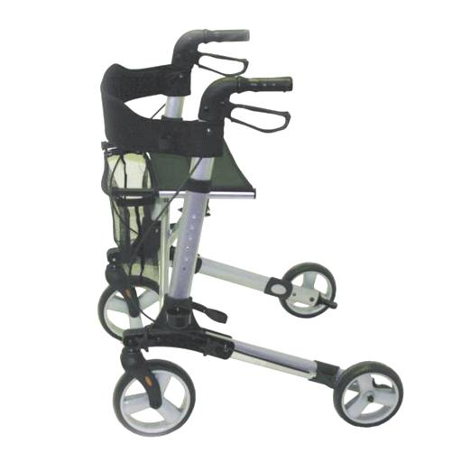 Rollator déambulateur design 4 roues siège confort repos sac et freins
