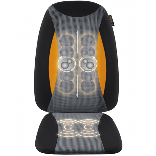 Siège de Massage Shiatsu chauffant dos, fesses, et cuisses