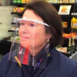 Lot 4 Masques de protection visière anti coronavirus lavables et réutilisables