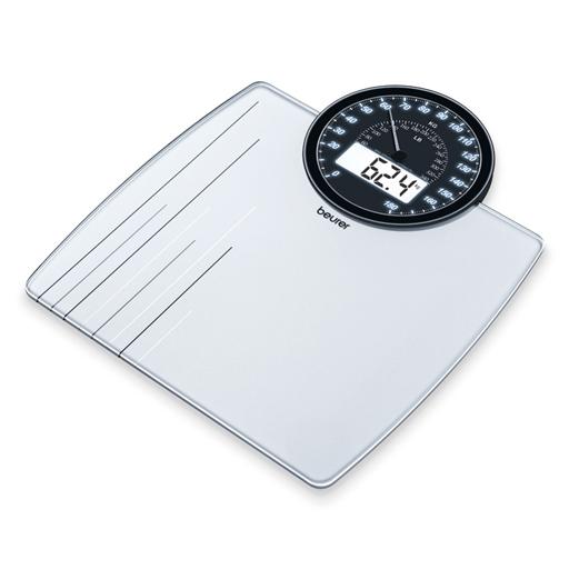 Pèse-personne verre affichage aiguille et chiffres