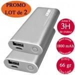 Lot promo 2 Chaufferettes électriques de poche rechargeables usb grises