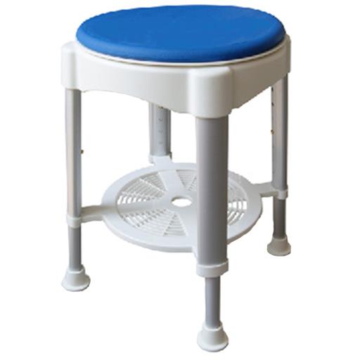 Tabouret de douche réglable pivotant avec plateau poids 150 kg