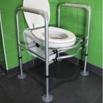 Support de maintien toilettes WC réglable