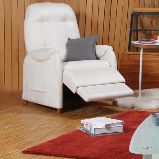 Fauteuil Releveur Relaxation Lit télescopique microfibre 3 moteurs