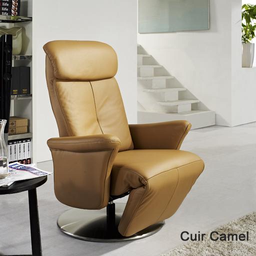 Fauteuil relax cuir manuel de luxe design contemporain - Fauteuil cuir italien ...