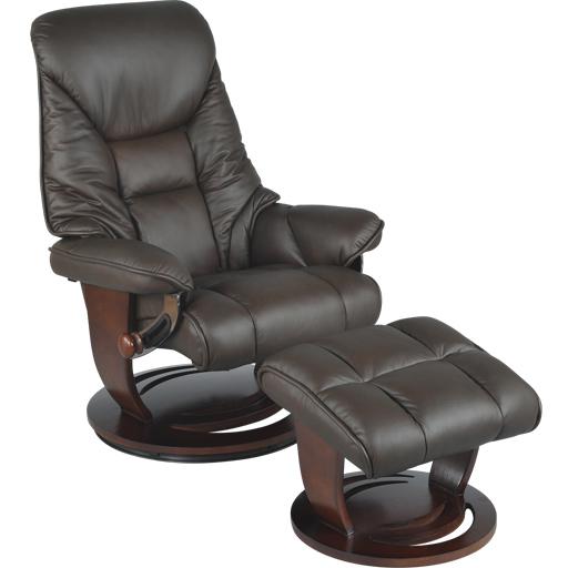 Fauteuil Relaxation Manuel cuir rotation 360° têtière réglable intégrée