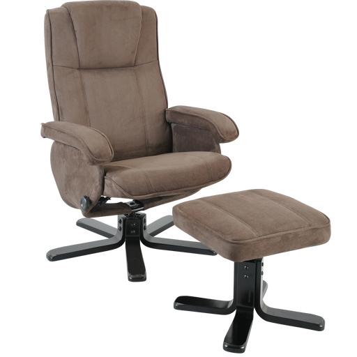 Fauteuil relax manuel microfibre ou cuir rotation 360° densité 24kg/m3