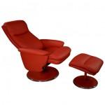 Fauteuil relax manuel imitation cuir rotation 360° densité 24kg/m3
