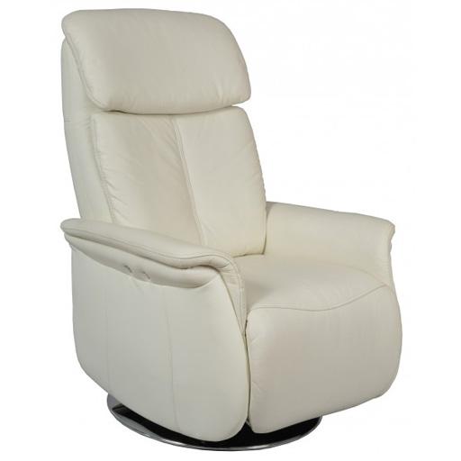 Fauteuil lectrique cuir de relaxation 1 moteur pivote 360 for Fauteuil de salon electrique