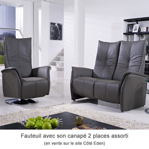 Canapé Relaxation Electrique ou Manuel Cotelit 100% Cuir Italien