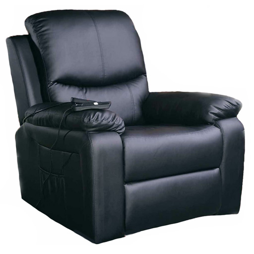 fauteuil relax 1 moteur chauffant massant releveur. Black Bedroom Furniture Sets. Home Design Ideas
