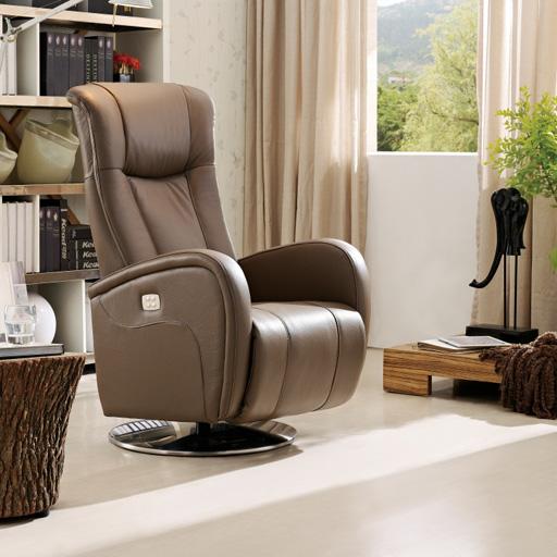 Fauteuil de relaxation lectrique volden 2 moteurs en cuir - Fauteuil relax electrique 2 moteurs ...