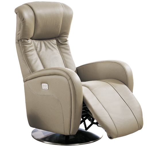 Fauteuil Relaxation Volden 2 moteurs microfibre imitation cuir rotation 360°