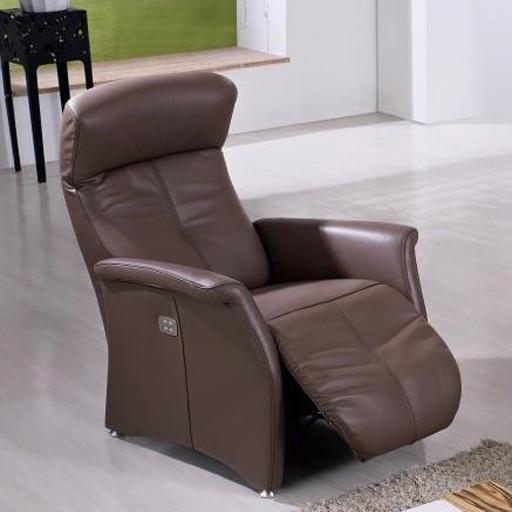 fauteuil lectrique de relaxation cuir italien 2 moteurs. Black Bedroom Furniture Sets. Home Design Ideas