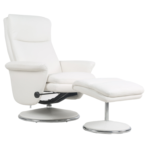 Fauteuil relax imitation cuir pu pivotant rotation 360