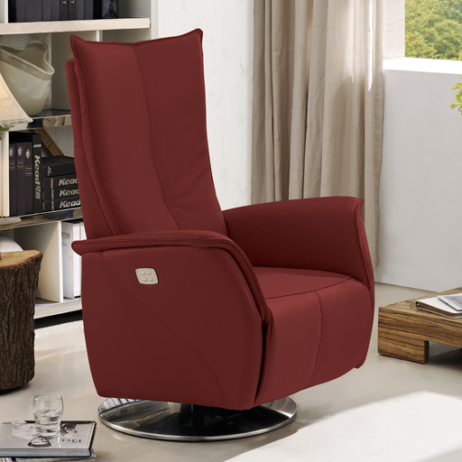 fauteuil relax electrique 2 moteurs en cuir de grande qualit. Black Bedroom Furniture Sets. Home Design Ideas