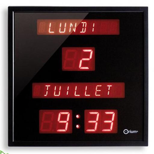 horloge electronique jour date mois