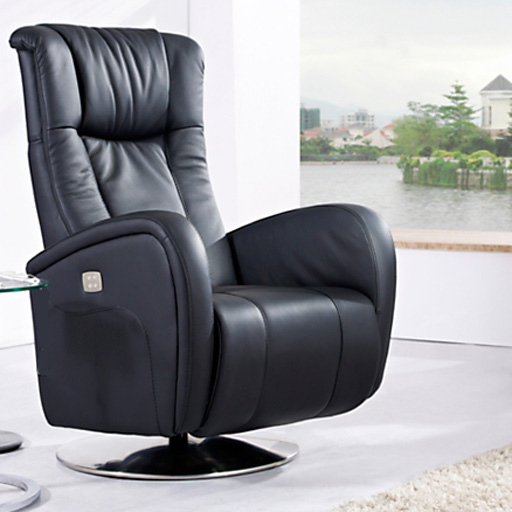 Fauteuil Relaxation Manuel volupte Luxe Cuir Italien rotation 360°