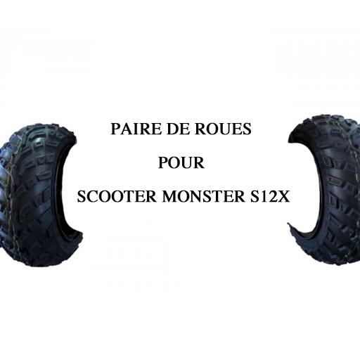 Paire de roues avant pour scooter monster S12X