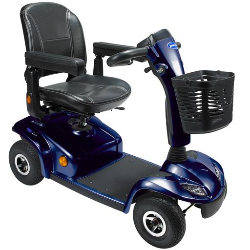 Scooter portable Invacare bleu 8 km/h autonomie 36km
