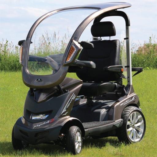 scooter electrique heartway avec protection toit autonomie 50km. Black Bedroom Furniture Sets. Home Design Ideas