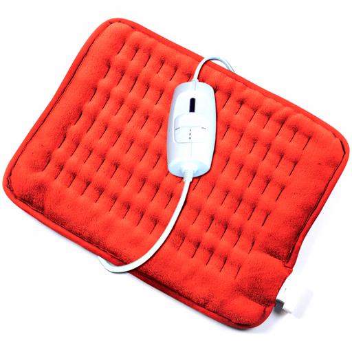 Coussin chauffant électrique polaire rouge