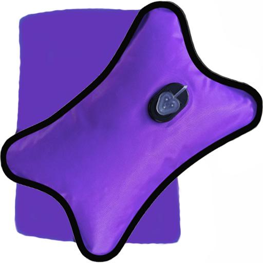 Bouillotte Magique Electrique violette grand modèle + Housse violette Offerte
