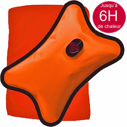 Bouillotte Magique Electrique orange grand modèle + Housse orange Offerte