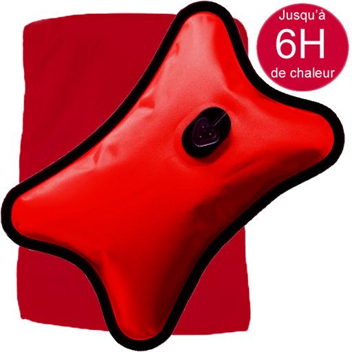 Bouillotte Magique Electrique rouge grand modèle + Housse rouge Offerte