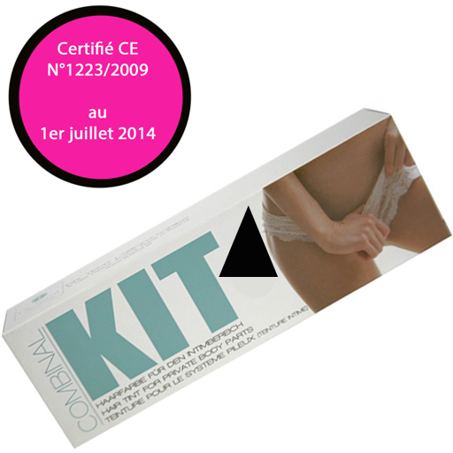 Kit coloration poils pubis, torse et moustaches Noir
