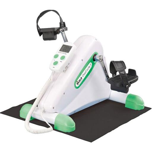 Pédalier Electrique Exercices doux + tapis et pédales mains