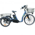 Vélo électrique 3 roues 10Ah à différentiel démarrage 6km/h frein disque autonomie 50km