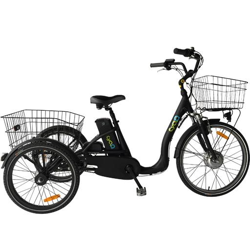 Vélo électrique 3 roues 14Ah fourche suspendue démarrage 6km/h autonomie 80km