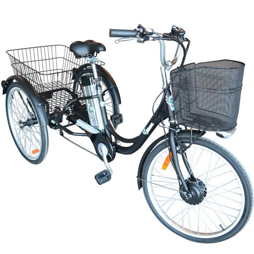 Vélo électrique 3 roues tricycle à assistance électrique autonomie 40km