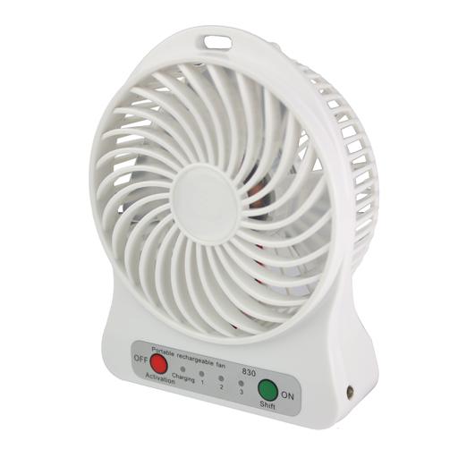 Mini ventilateur de voyage portable sans fil rechargeable autonomie 8h